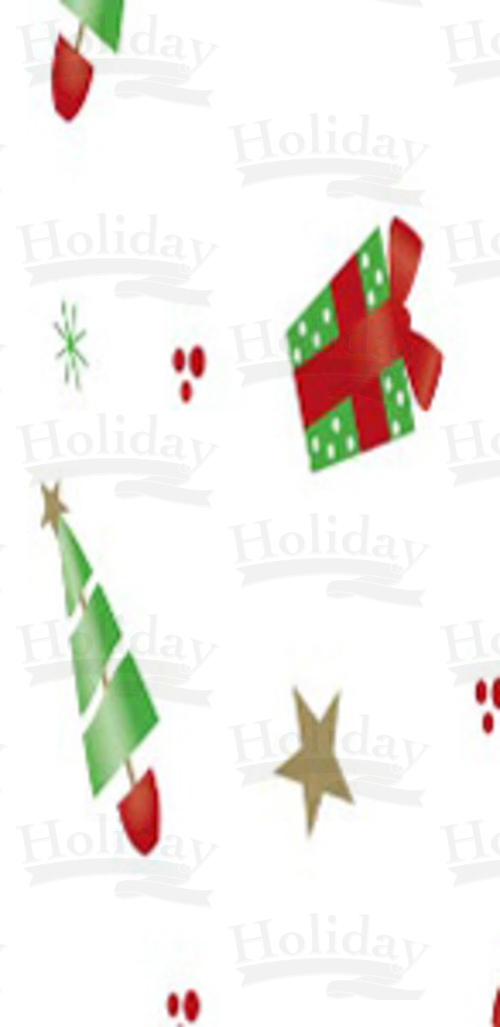 "Printed Cello Bags, Deck The Halls, Gusseted, 4"" x 2.5"" x 9.5"""