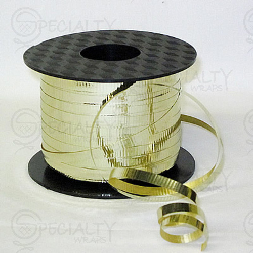 "Crimped Curling Ribbon, 3/16"", Metallic Gold"