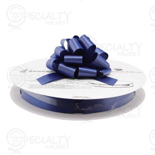 "Pull Bows on Reel, 4"" wide, Navy"