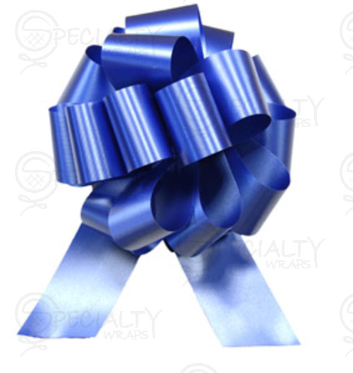 "Poly-Satin Pull-Bow, 4"" wide, Royal"