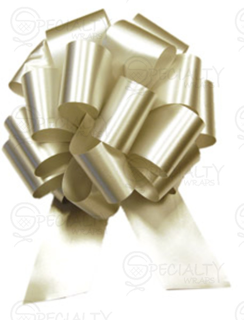 "Poly-Satin Pull-Bow, 4"" wide, Silver"