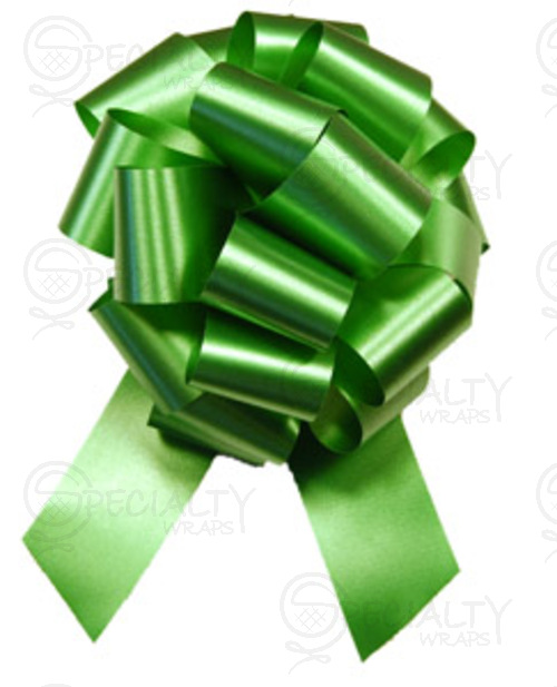 "Poly-Satin Pull-Bow, 4"" wide, Emerald"