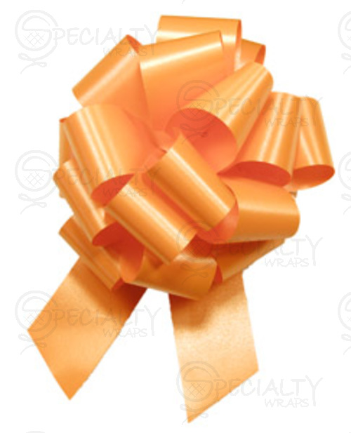 "Poly-Satin Pull-Bow, 4"" wide, Orange"