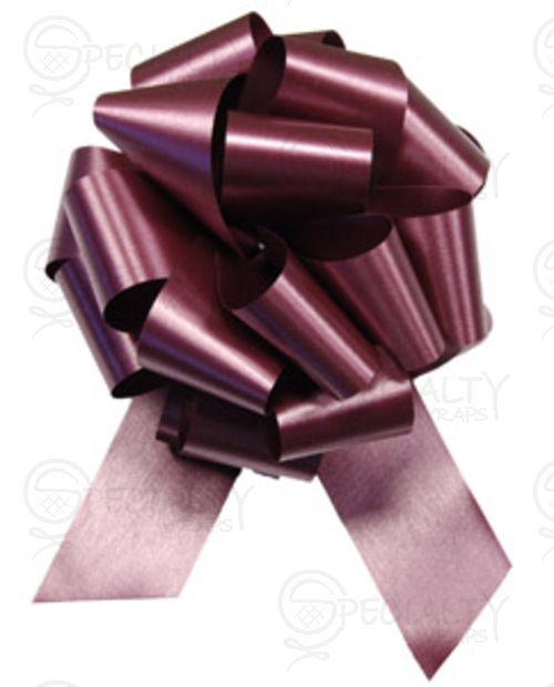 "Poly-Satin Pull-Bow, 4"" wide, Burgundy"
