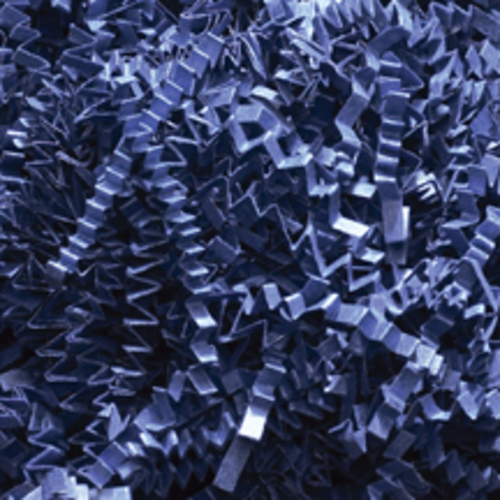 Crinkle Cut Paper Shred, Navy, 10#