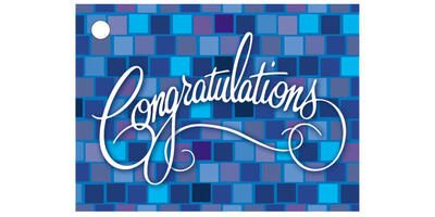 Gift Card - Printed, Blue Square Congratulations