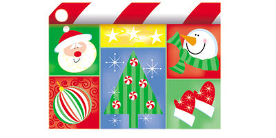 Gift Card - Printed, Holiday Squares