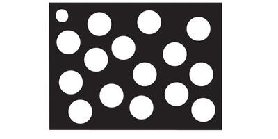 Gift Card - Printed, Black & White Dots