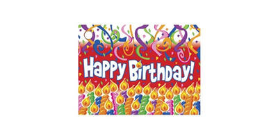 Gift Card - Printed, Birthday Candles