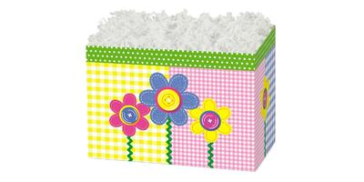 Gift Basket Box - Printed, Large, Buttons