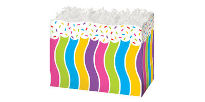 Gift Basket Box - Printed, Large, Candy Sprinkles