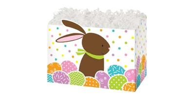 Gift Basket Box - Printed, Large, Chocolate Bunny