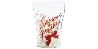 "Reclosable Zippered Pouch, Season's Greetings, 4"" x 6"" x 2"""