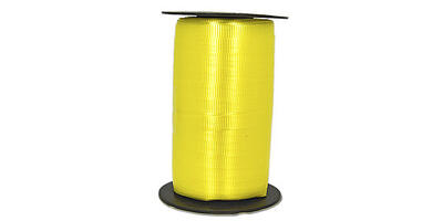 "Crimped Curling Ribbon, 3/16"", Yellow"