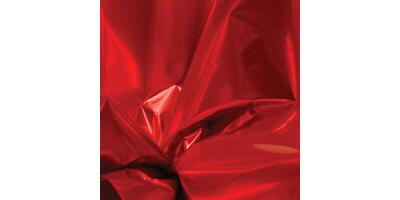 "Metallized Cello Sheets, 18"" x 30"", Red"