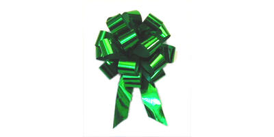 "Metallic Pull Bow, 5"" wide, Emerald"