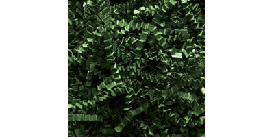 Crinkle Cut Paper Shred, Forest Green, 10#