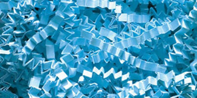 Crinkle Cut Paper Shred, Sky Blue, 10#